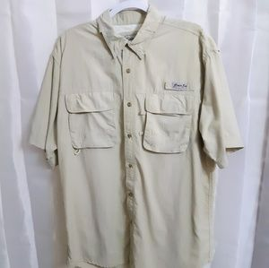 Bikini Bay Short Sleeve Button Up Fishing Shirt